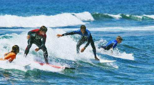 kurs surfingu Teneryfa - lekcja surfingu